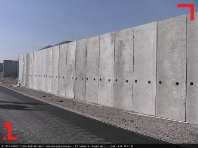 mur oporowy z elek betonowych