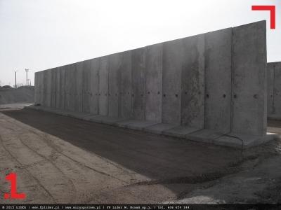 mur oporowy z elementów typu T